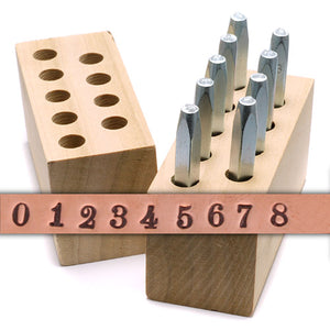 "Metal Stamping Tools Beaducation Chronicle Number Stamp Set 3/32"" (2.4mm)"