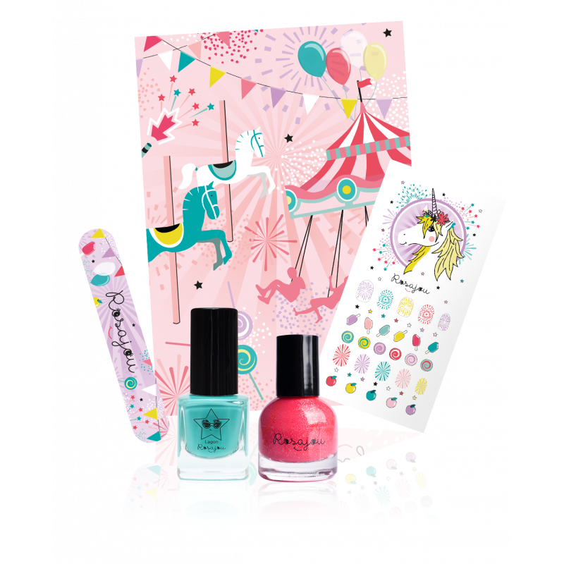 Pretty Nails Kit Rosajou | Lagon Corail