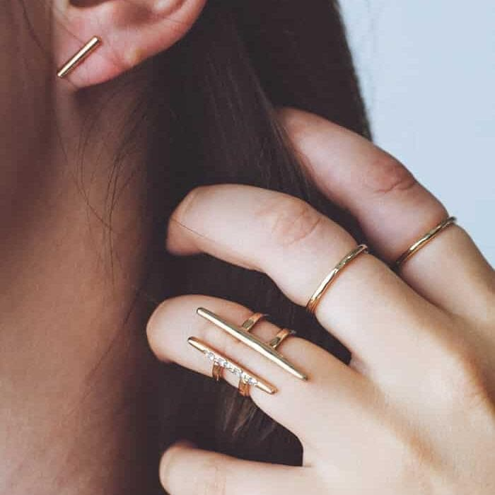 Gold Slim Bar Earrings - Best Seller