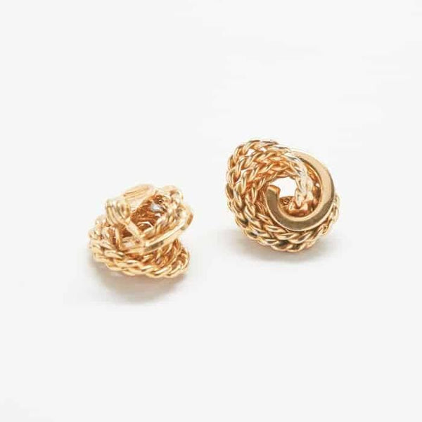 Vintage Monet Braided Rope Earrings