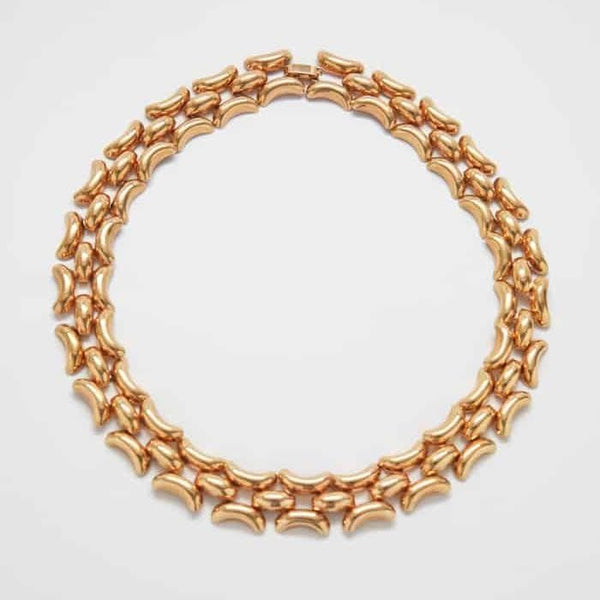 Vintage Krementz Gold Link Necklace