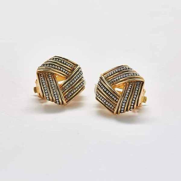 Vintage Mix Metal Stud Earrings