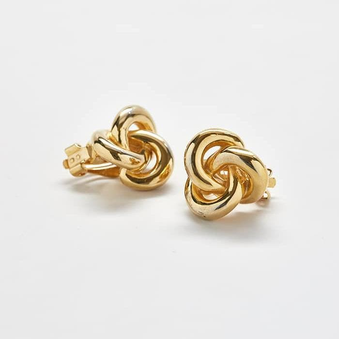 Vintage Anne Klein Gold Knot Earrings