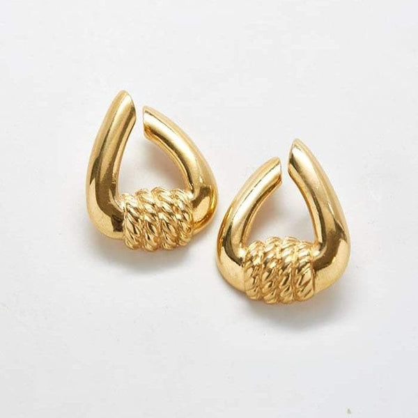 Vintage Gold Open Hoop Earrings