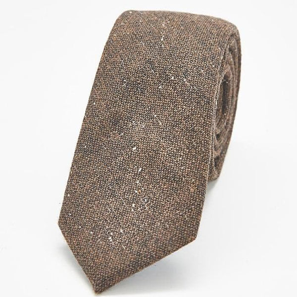 Brown Men's Skinny Tie
