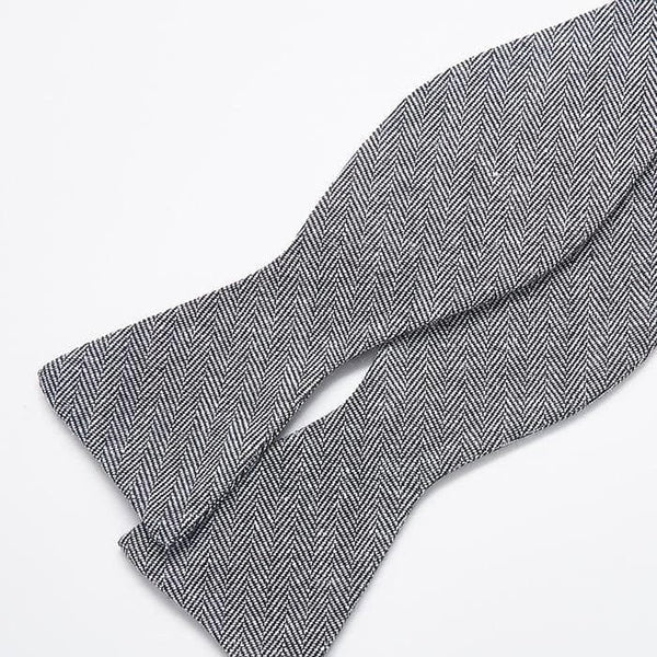 Grey Patterned Bow Tie