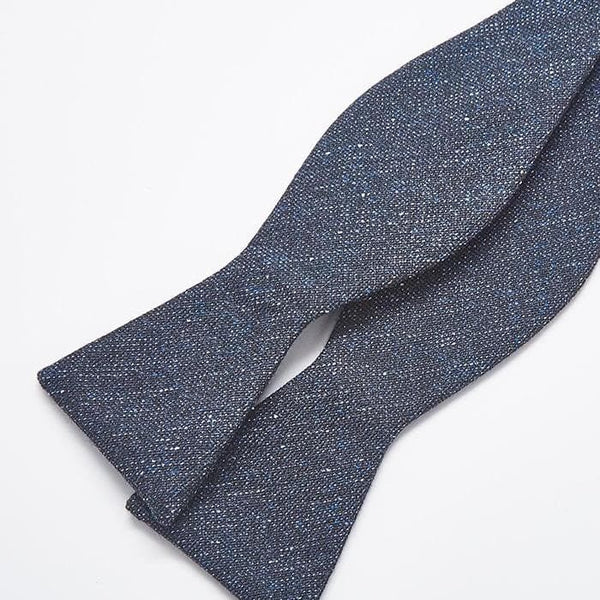 Charcoal Navy Bow Tie