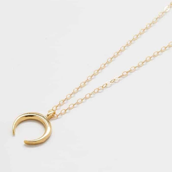 Gold Tiny Crescent Moon Necklace