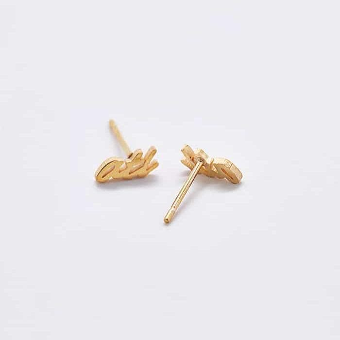ATL Gold Dainty Stud Earrings