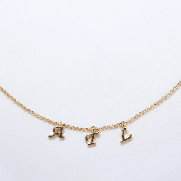 """ATL"" Gold Initial Necklace"