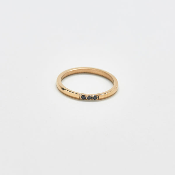 Black Pave Stacking Ring