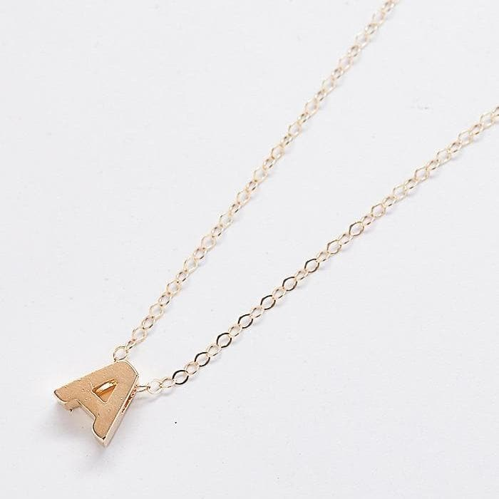 Custom Gold Initial Necklaces