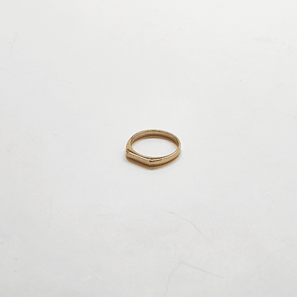 Gold Flat Top Gold Ring