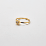 Gold Geo Teardrop Ring
