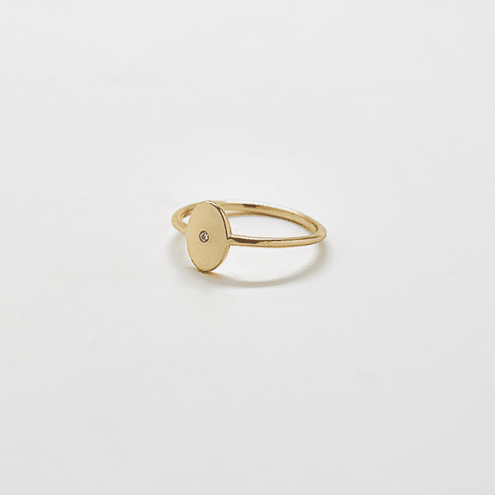 Gold Pave Oval Ring