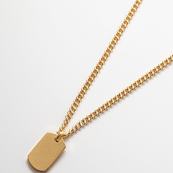 Gold Dog Tag Choker