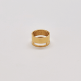 Gold Geo Wide Bar Ring