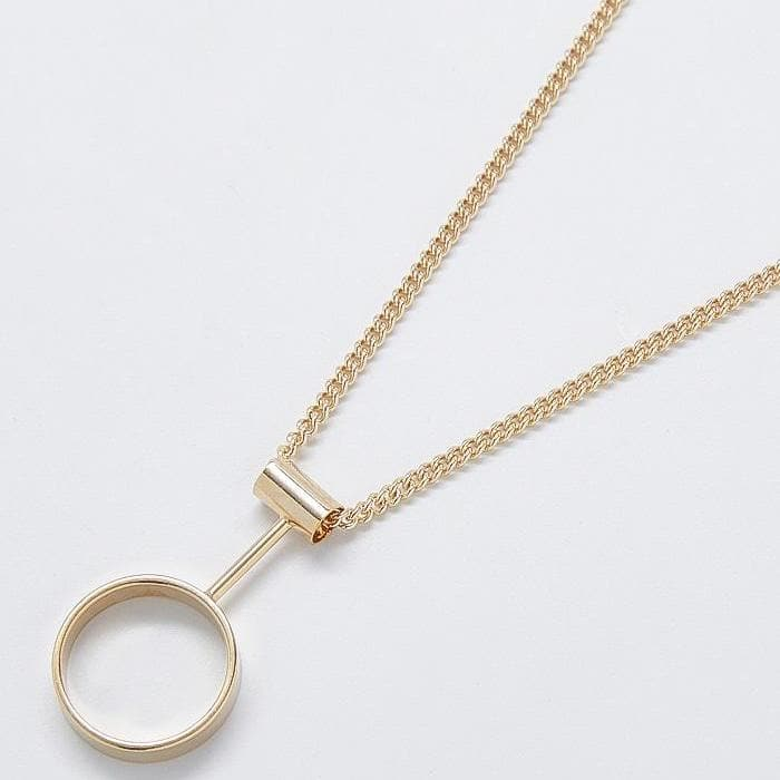 Gold Statement Pendulum Necklace