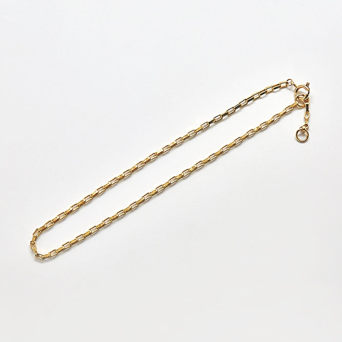 Gold Rectangle Chain Anklet