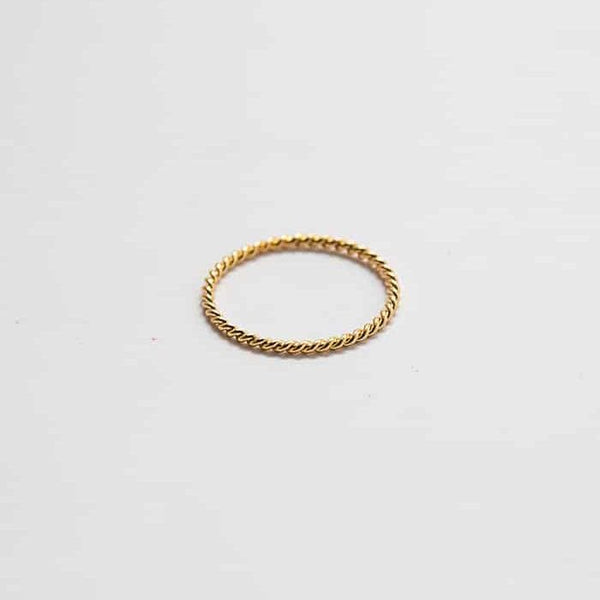 Gold Rope Twist Stacking Ring