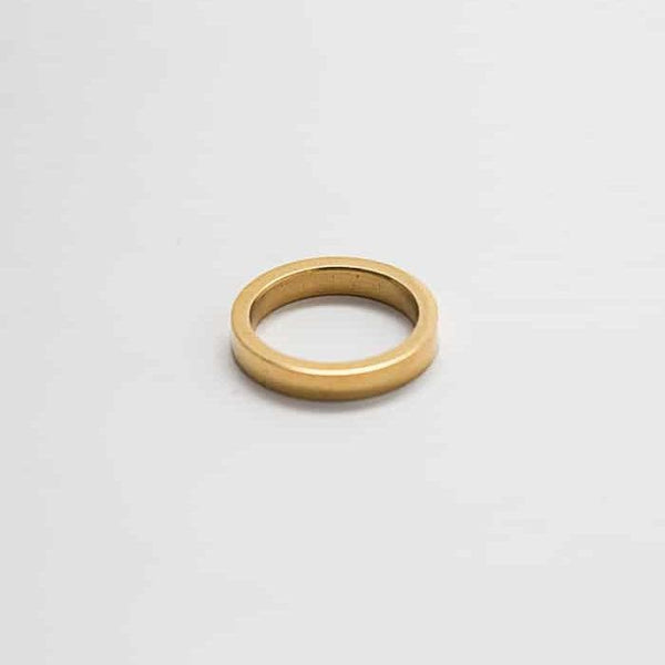 Gold Wide Stacking Ring