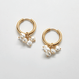 Gold Pearl Huggie Earrings - Best Seller