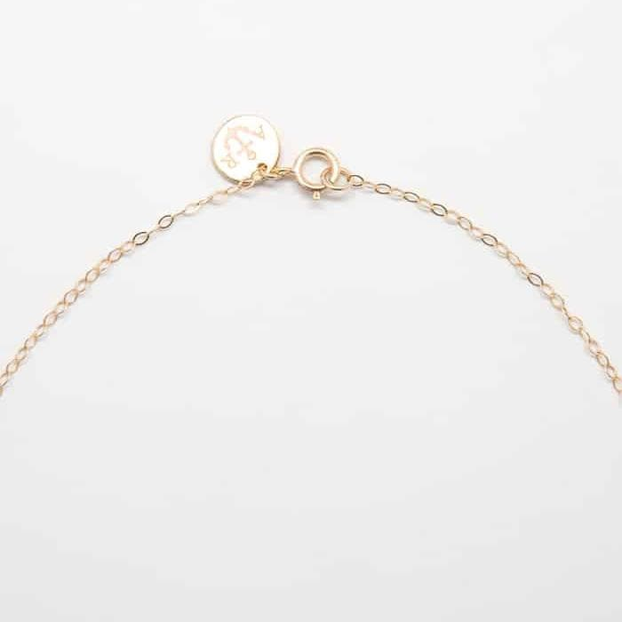 Gold Tiny Cubic Zirconia Bar Necklace