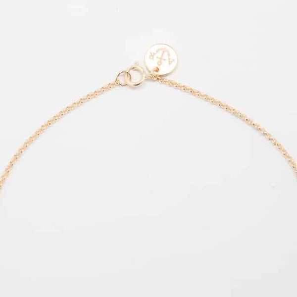 Gold Pave Crescent Moon Necklace