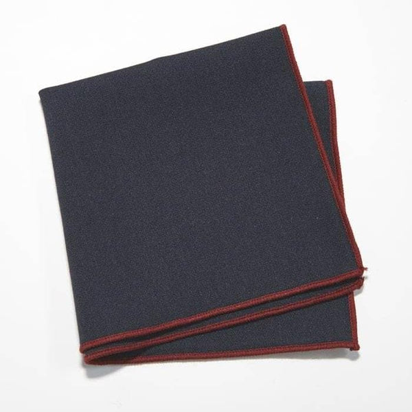 Blue Tipped Pocket Square