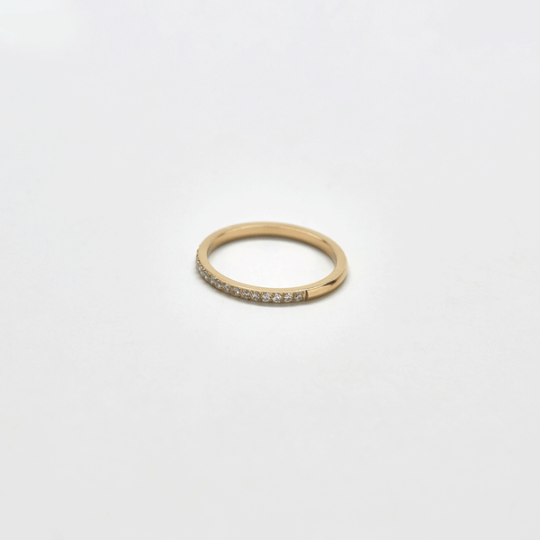 Pave Stone Gold Stacking Ring