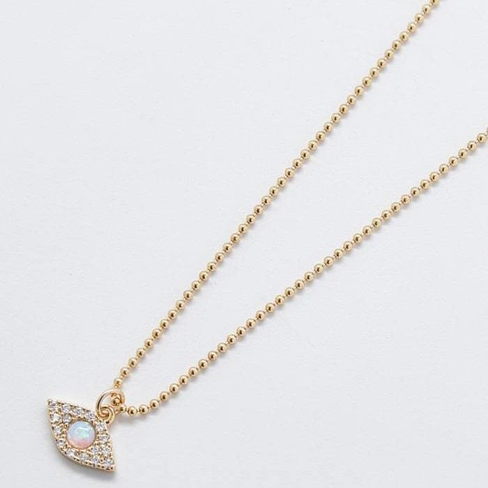 Pave Gold Eye Necklace