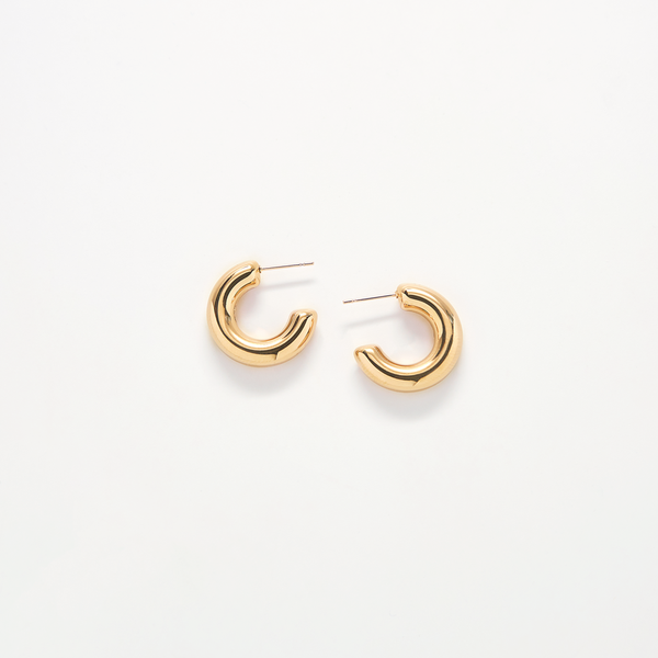 Small Gold Chunky Hoop Earrings