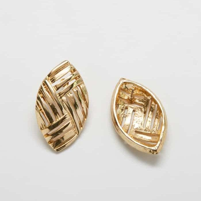 Vintage Etched 'Stripe' Earrings
