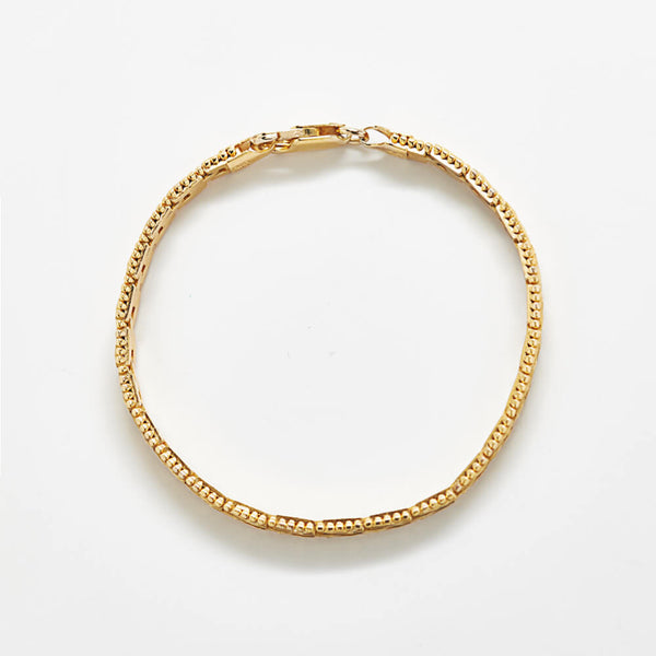 Vintage Flat Rectangle Chain Bracelet