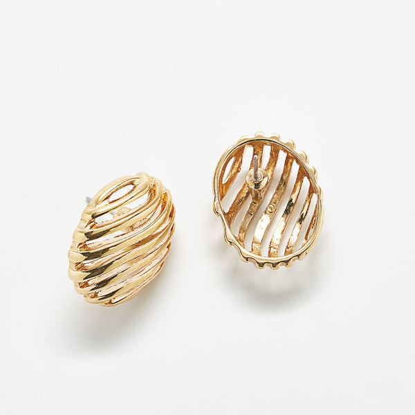Vintage Gold 'Stripe' Earrings
