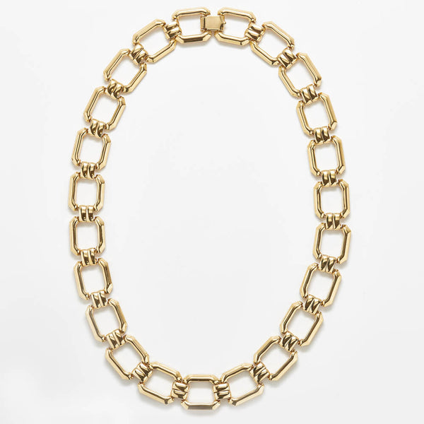 Vintage Monet Gold Link Necklace