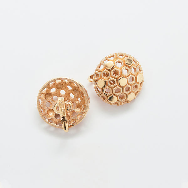 Vintage Trifari Domed Earrings