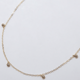 White CZ Choker Necklace