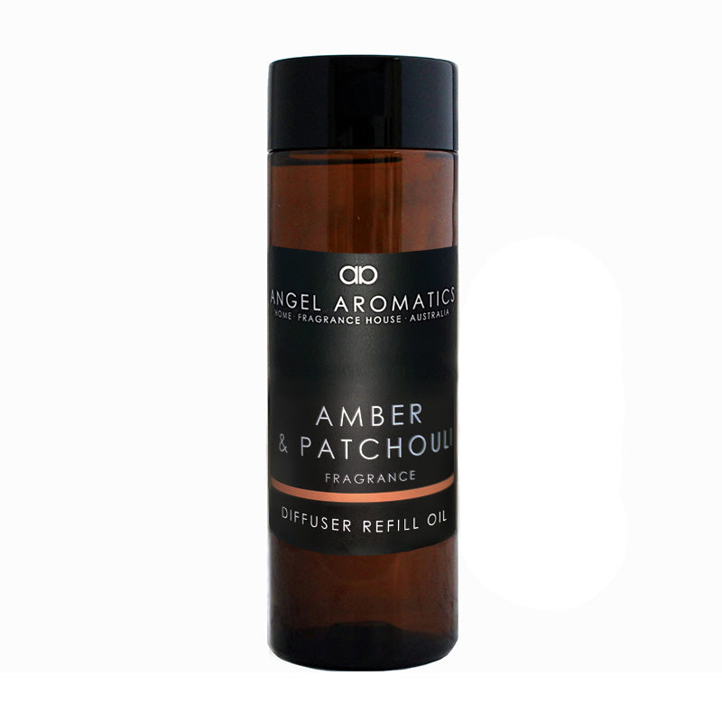 Refill 200ml Diffuser Reed Oil (wholesale) - Amber and Patchouli (As low as $12.42)-Diffusers-Angel Aromatics