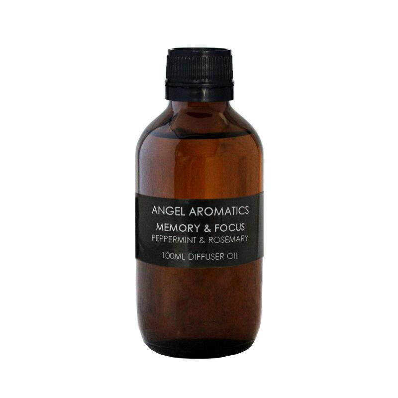Memory and Focus Peppermint & Rosemary 100ml Oil (wholesale) (As low as $18.95)-Angel Aromatics