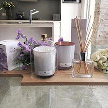 Load image into Gallery viewer, 470g Glass Candle (wholesale) - Sweet Pea and Violet-candles-Angel Aromatics