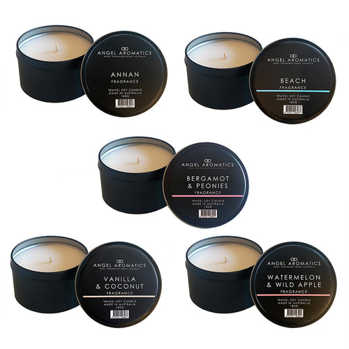 12 Value Pack - Travel Tin Candles-Wholesale-Angel Aromatics