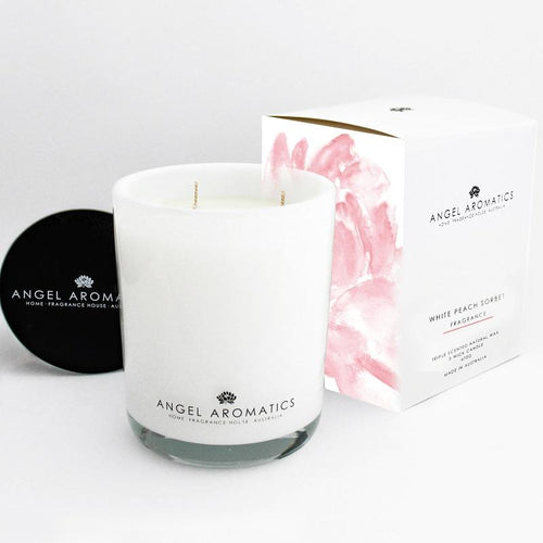 470g Glass Candle (wholesale) - White Peach Sorbet-candles-Angel Aromatics