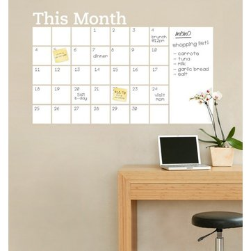 Chalkboard Office Month Planner Wall Sticker - myhomelyoffice.com
