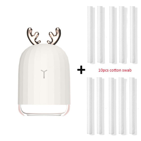 USB Aromatherapy Essential Oil Diffuser and Ultrasonic Humidifier with Cool Mist and LED Light - myhomelyoffice.com