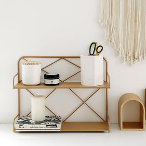 Double Layered Storage Rack - myhomelyoffice.com