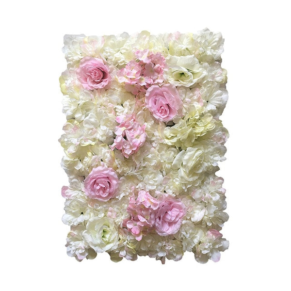 40x60cm Silk Artificial Flower Wall Decor Panels - myhomelyoffice.com
