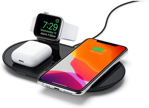 3in1 Fast Charging Wireless Power Charger Pad Dock For iPhone, Airpods And Apple Watch - myhomelyoffice.com