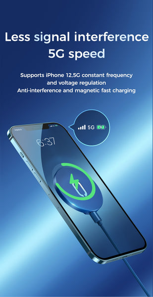 Magnetic Wireless Charger For Apple iPhone 12 Range and Qi-compliant devices - myhomelyoffice.com