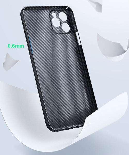 Luxury Real 3D Carbon Fibre Slim Protective Cover For iPhone 11 12 Pro Max Mini - myhomelyoffice.com